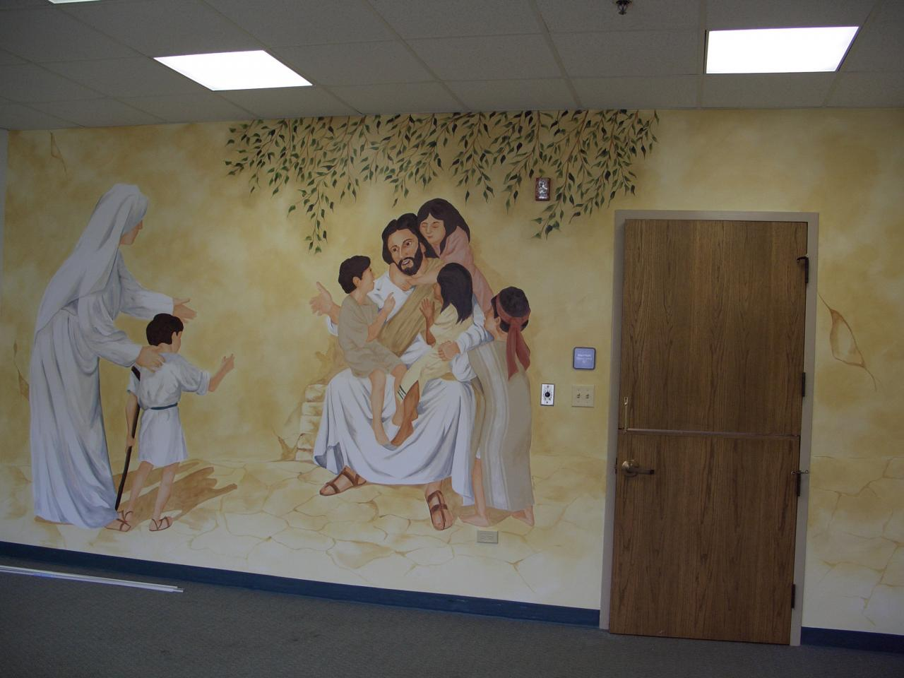 Faux the love of it murals and accents for Church nursery mural